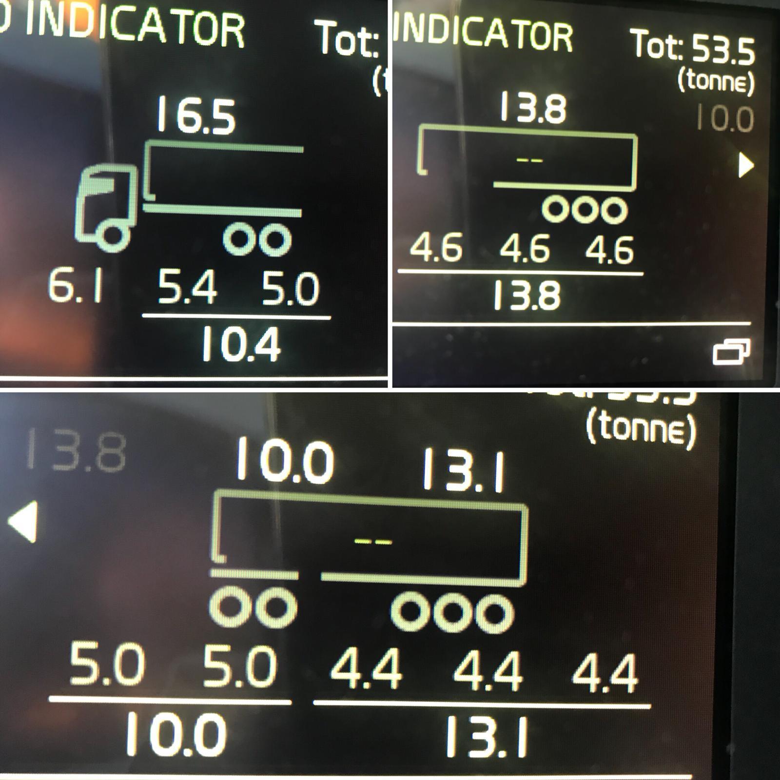 Kantavuuden laskeminen 2; puoliperävaunu ja A-double