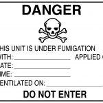 kaasulla desinfiointia osoittava varoitusmerkki