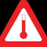 kohotetussa lämpötilassa kuljetettavien aineiden varoitusmerkki