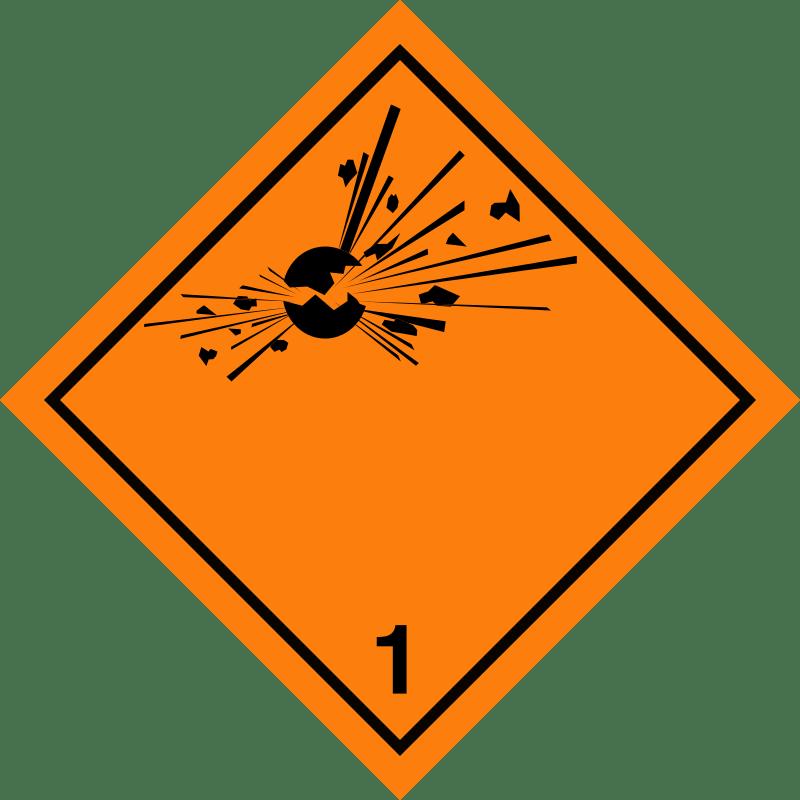 luokka 1 räjähteet