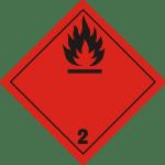 luokka 2; alaluokka 2.1 palavat kaasut