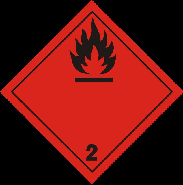 luokka 2.1 palavat kaasut