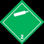 luokka 2; alaluokka 2.2 palamattomat, myrkyttömät kaasut (valkoinen)