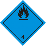 luokka 4.3 aineet, jotka veden kanssa kosketukseen joutuessaan kehittävät palavia kaasuja