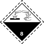 luokka 8 syövyttävät aineet