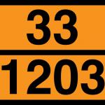 oranssikilpi jossa ovat vaaran tunnusnumero ja YK-numero